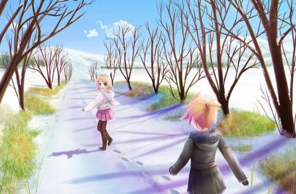 Anime Winter Scene