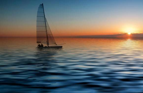 Boat At Sea wallpapers hd quality