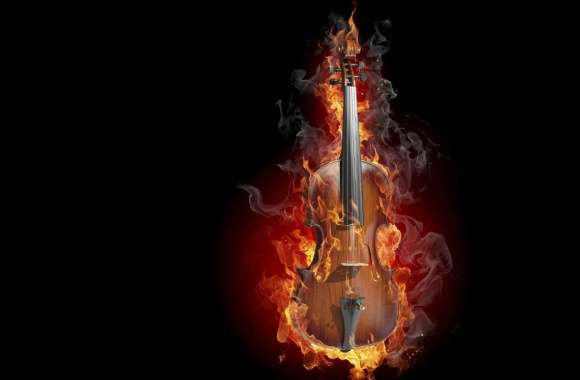 Burning Violin wallpapers hd quality