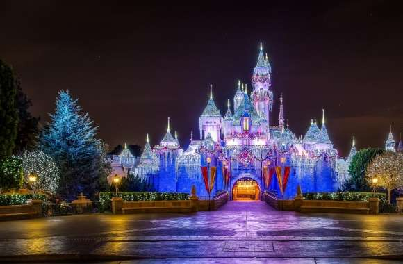 Castle, Christmas wallpapers hd quality
