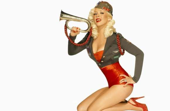 Christina Aguilera Retro wallpapers hd quality