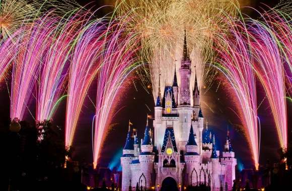 Fireworks Over Cinderella Castle wallpapers hd quality