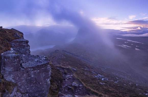 Man, Morning Mist, Mountain, Scotland