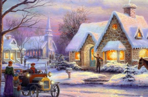 Memories Of Christmas by Thomas Kinkade wallpapers hd quality