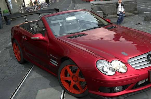 Mercedes Benz SL55 wallpapers hd quality