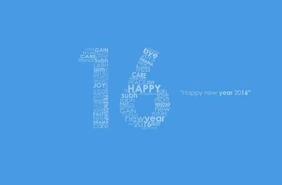 New Year 2016 Blue wallpapers hd quality