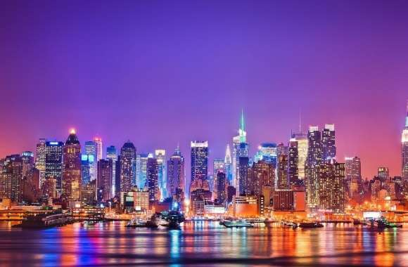New York City Skyline at Night wallpapers hd quality