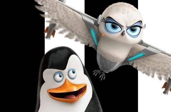 Penguins of Madagascar Kowalski and Eva