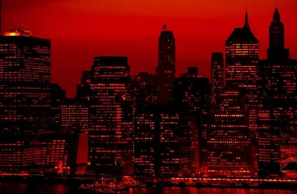 Red Sky At Night New York City wallpapers hd quality