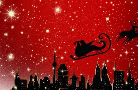 Santa Claus is Coming to City wallpapers hd quality