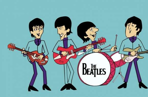 The Beatles Cartoon wallpapers hd quality