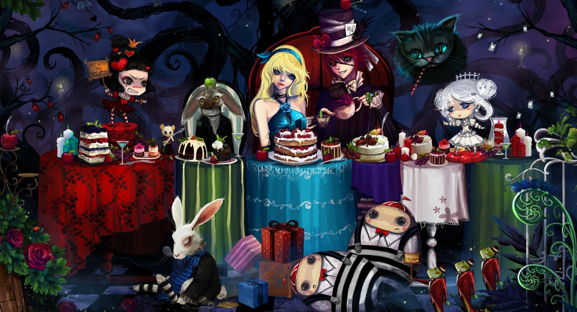 Alice In Wonderland Tea Party wallpapers HD quality