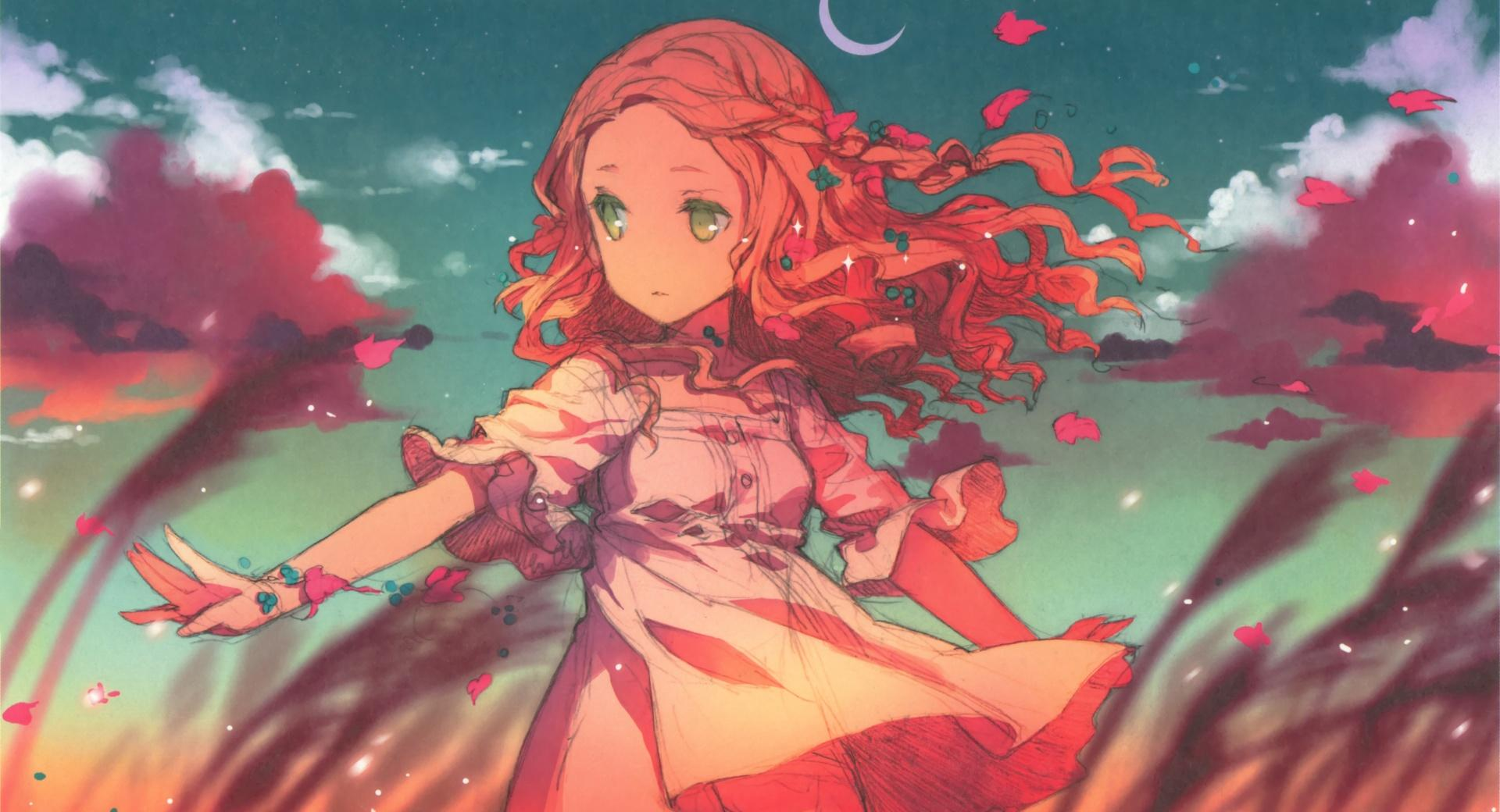 Anime Girl In The Wind wallpapers HD quality