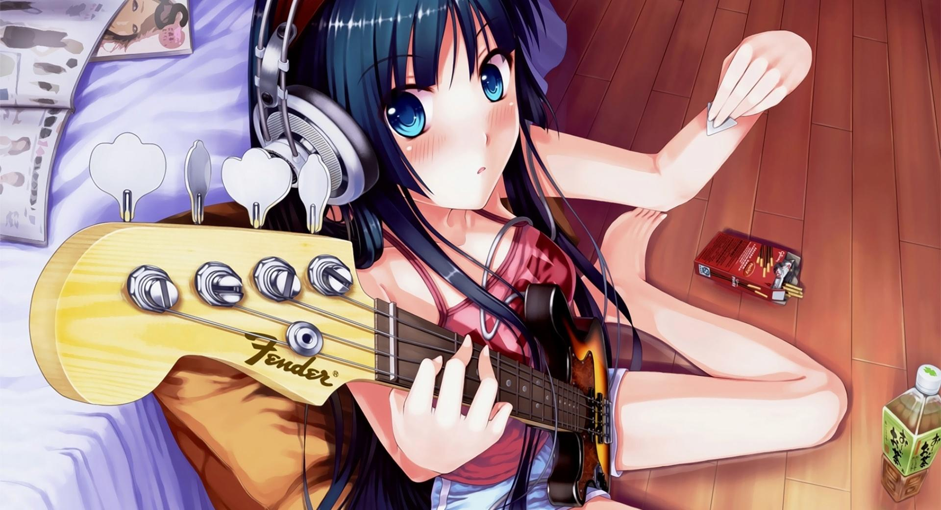 Anime The Girl With A Guitar wallpapers HD quality