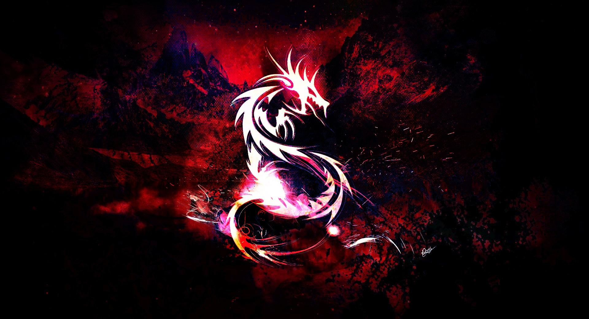 Bloody Red Dragon wallpapers HD quality