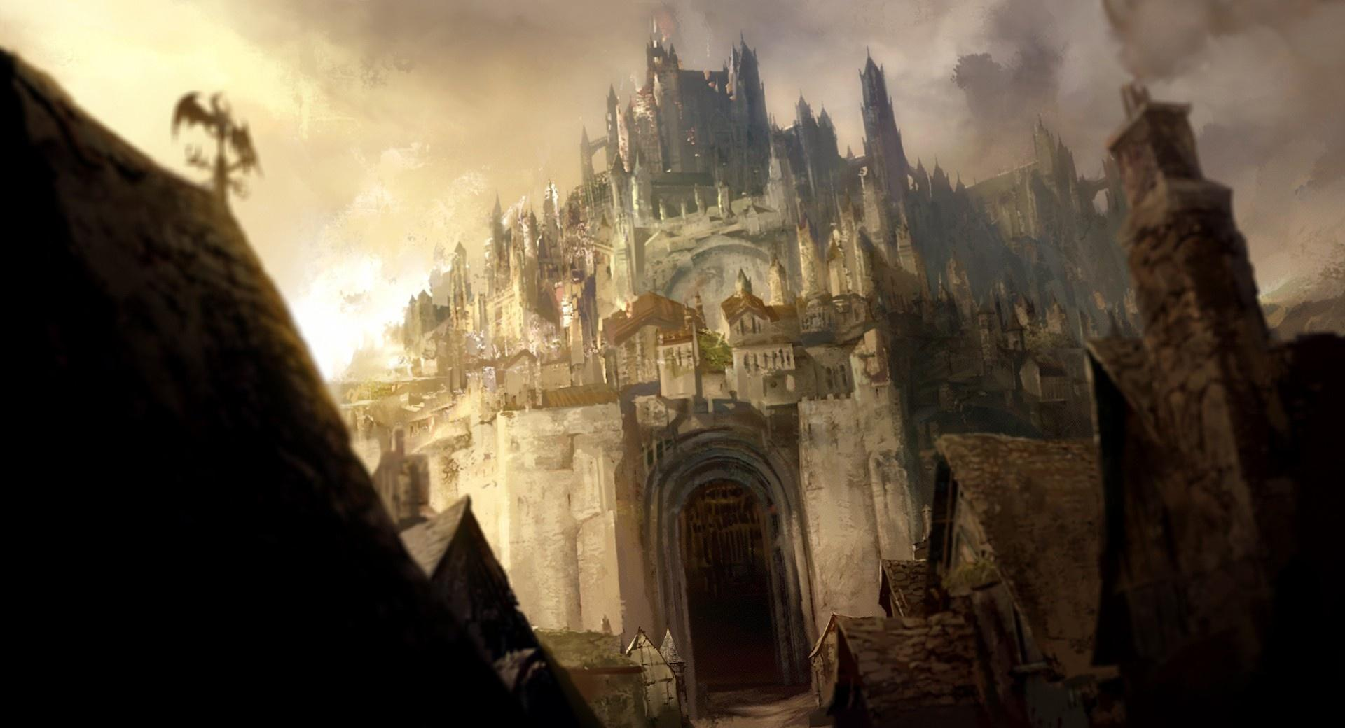 Castle Painting wallpapers HD quality