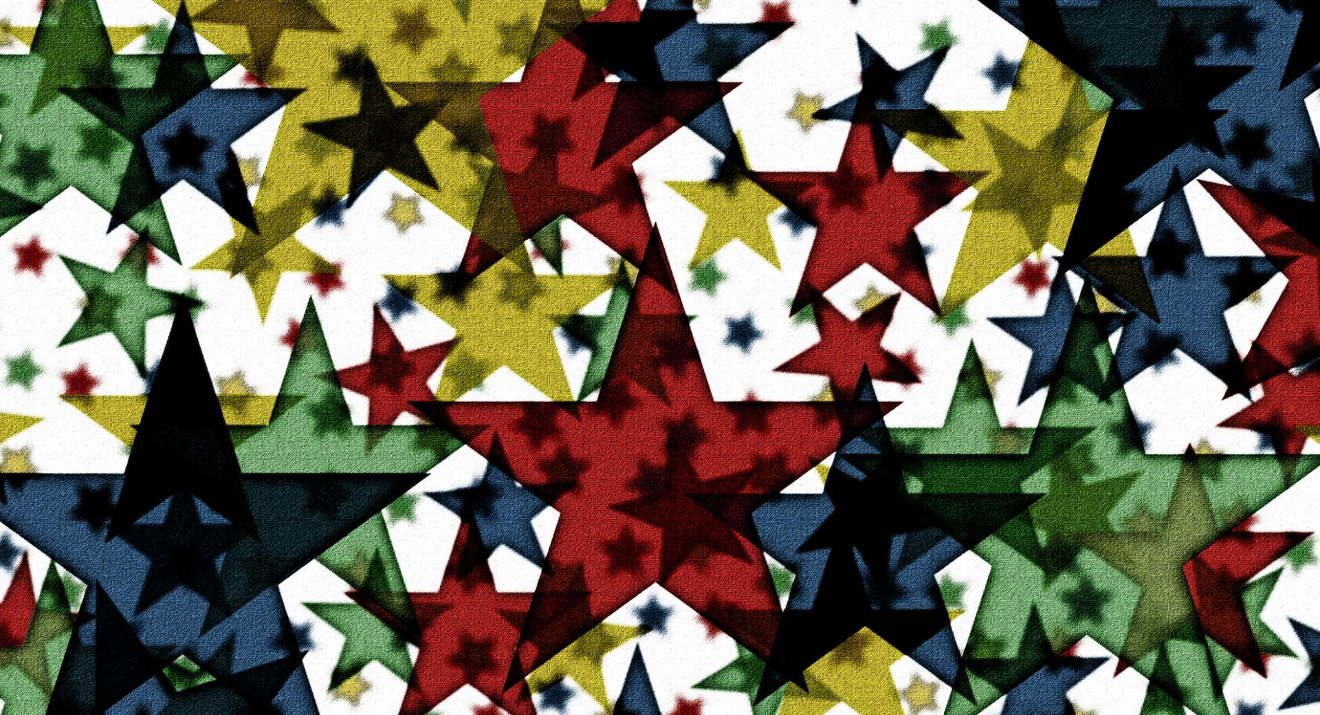 Colored Stars at 2048 x 2048 iPad size wallpapers HD quality