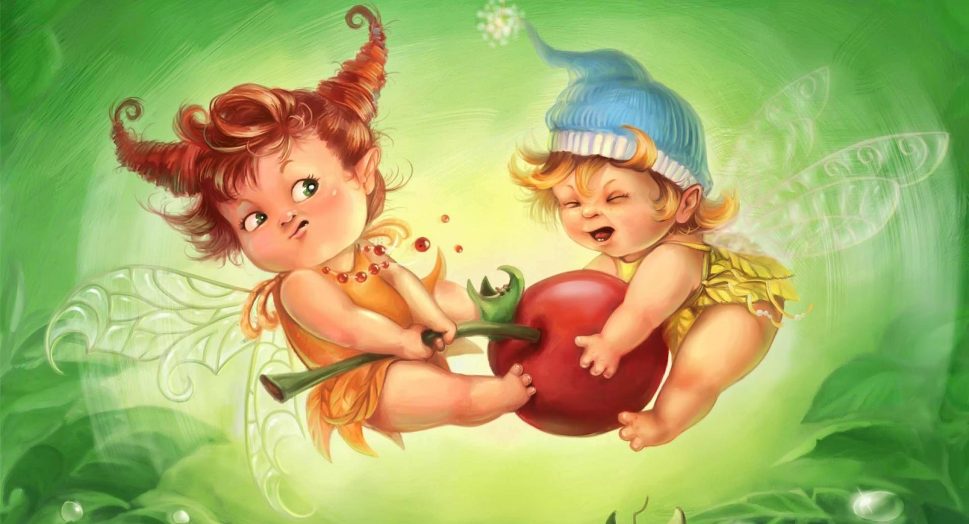 Fairy Children at 320 x 480 iPhone size wallpapers HD quality