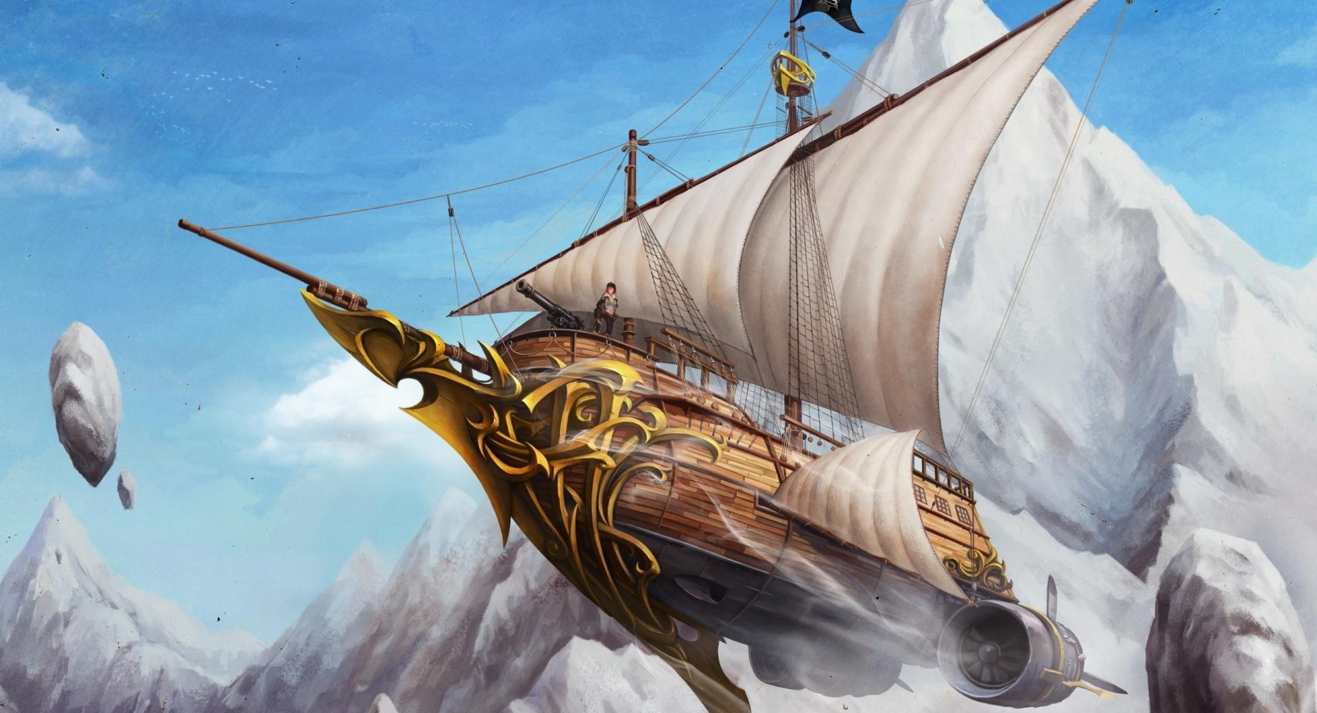 Flying Ship wallpapers HD quality