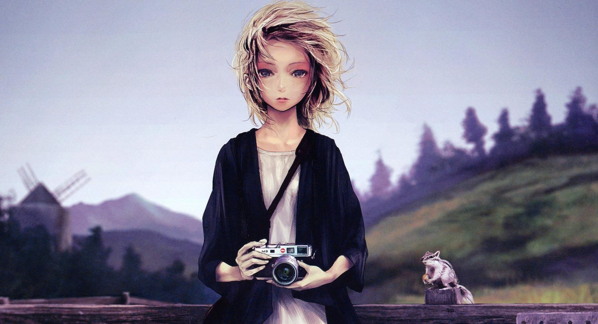 Girl With Camera wallpapers HD quality