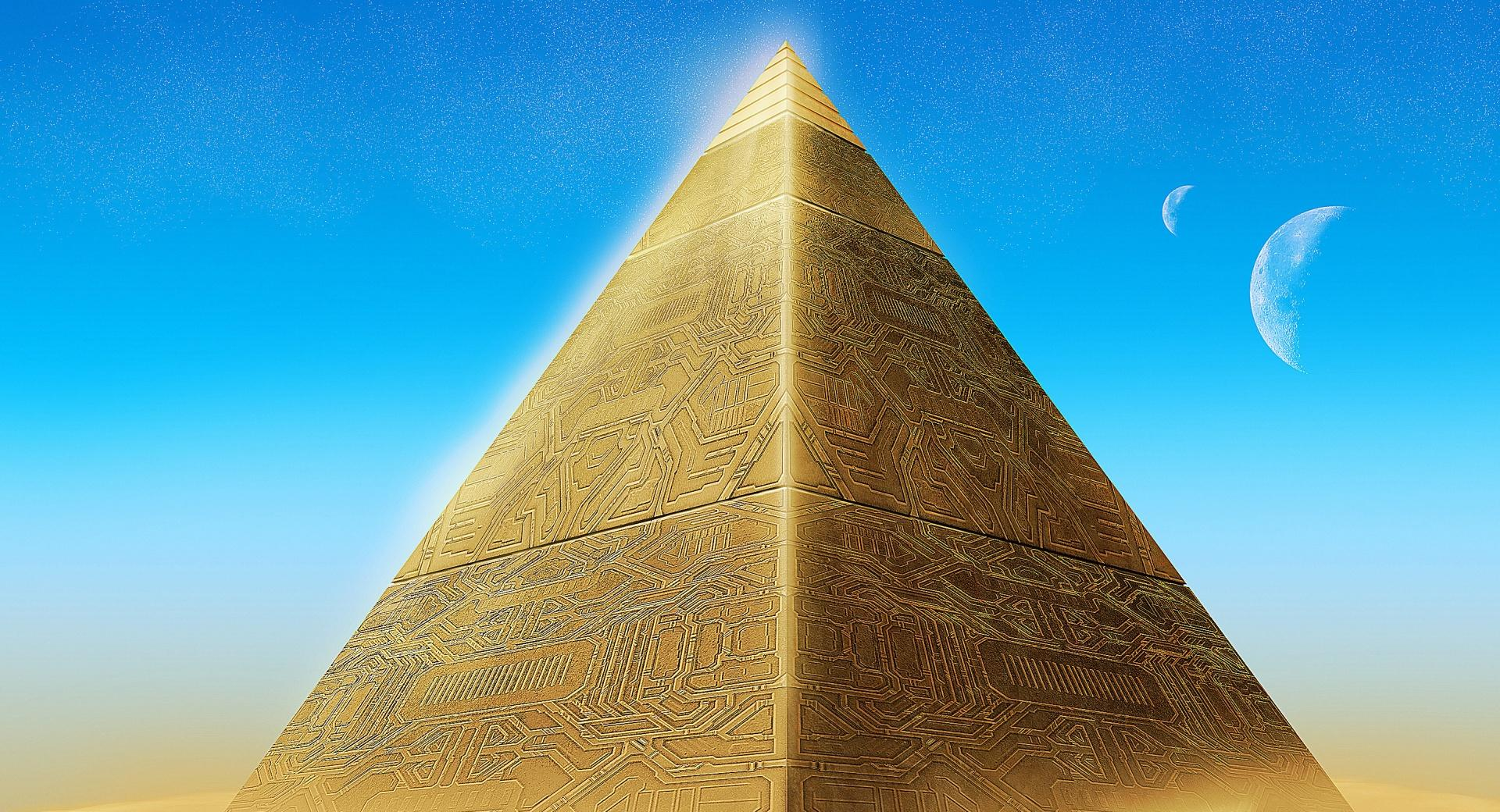 Gold Pyramid wallpapers HD quality