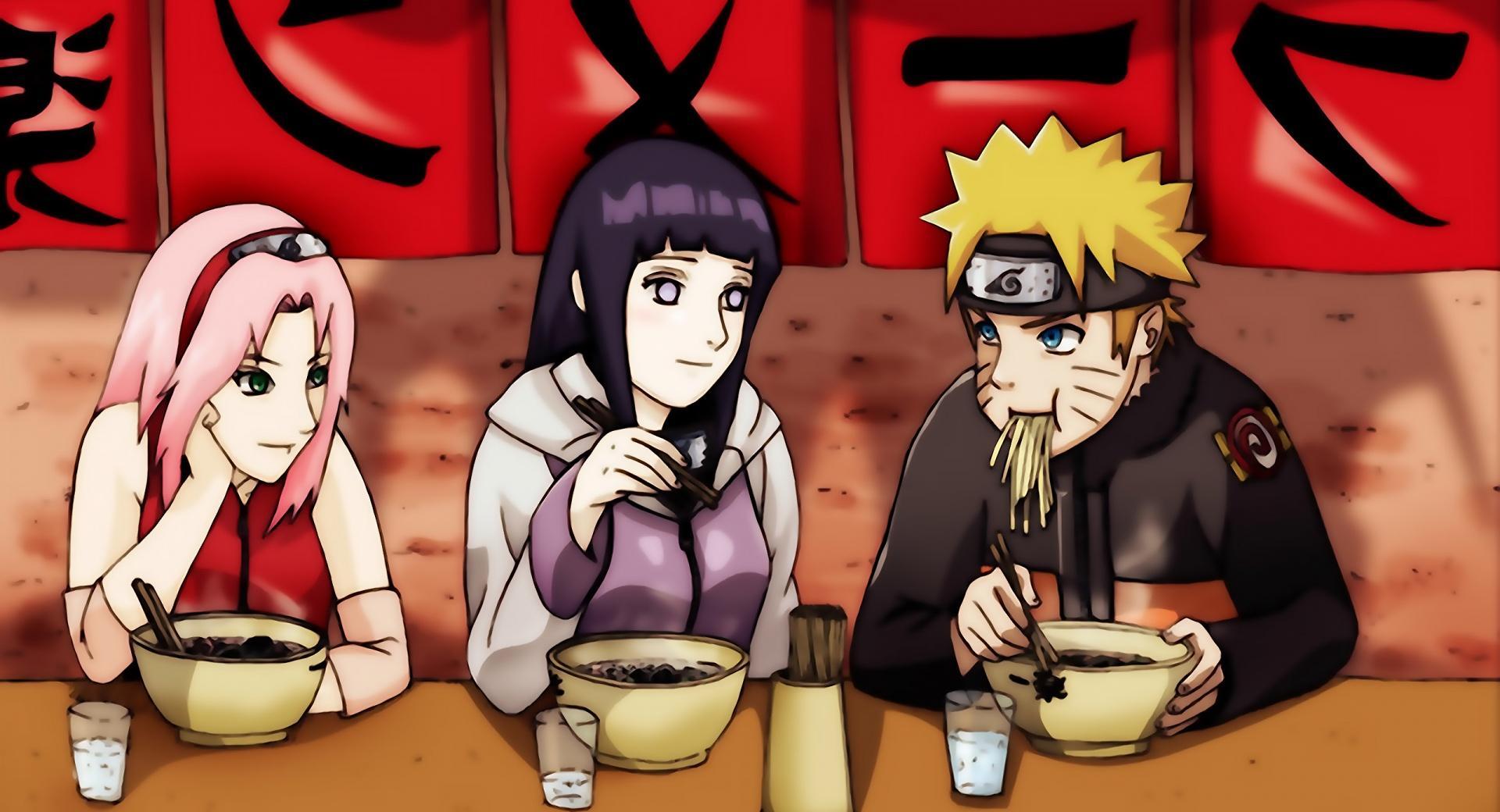 Haruno Sakura, Hyuuga Hinata And Naruto Uzumaki wallpapers HD quality