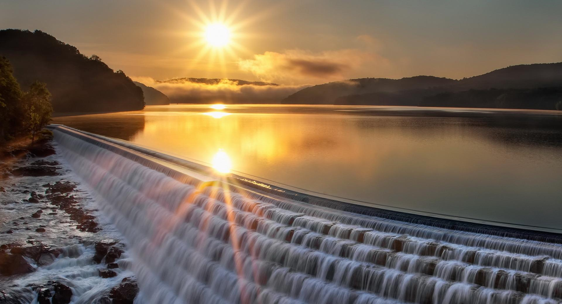 Lake-WaterFall wallpapers HD quality