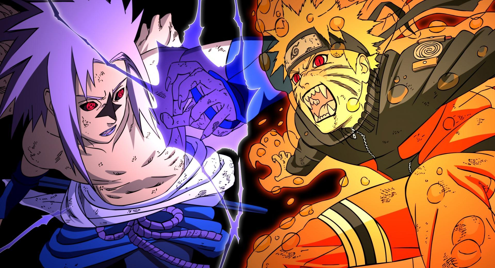 Naruto vs Sasuke - Fighting wallpapers HD quality