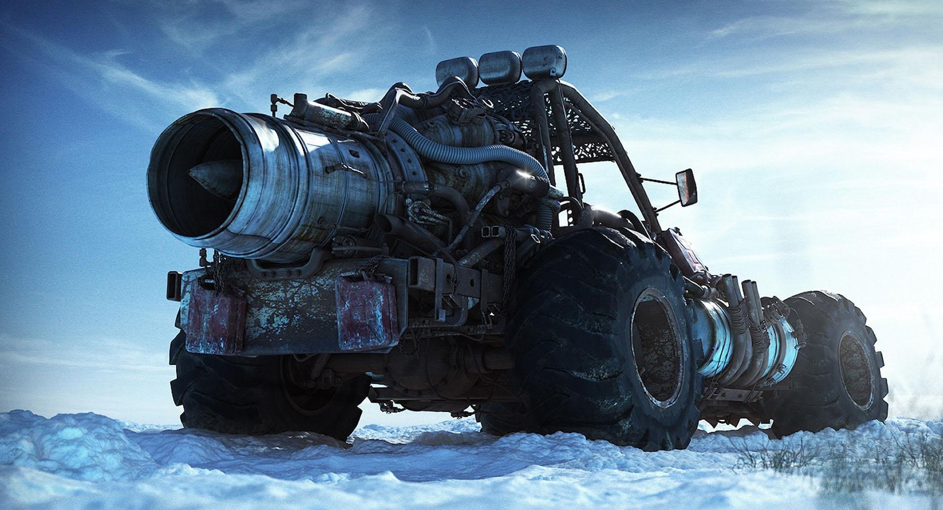 Nuclear Truck Fantasy wallpapers HD quality