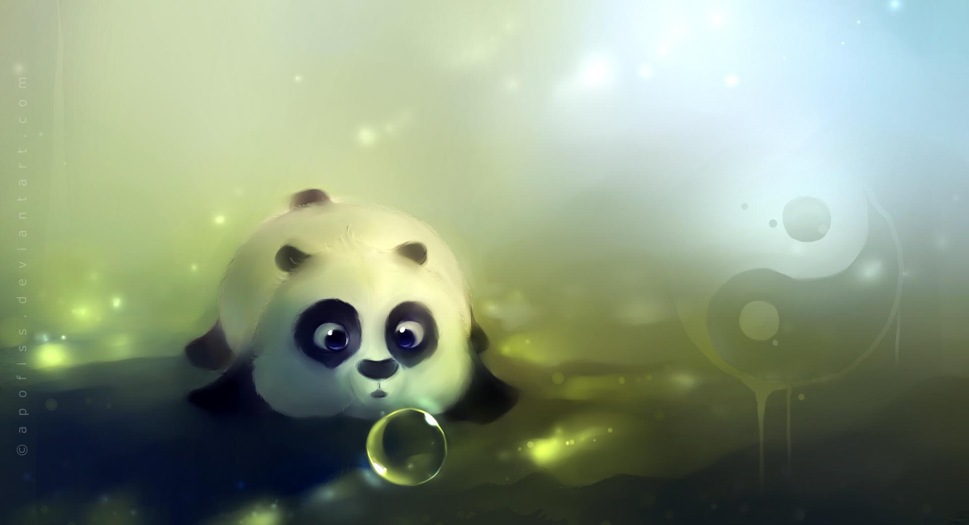 Panda Loves Bubbles wallpapers HD quality