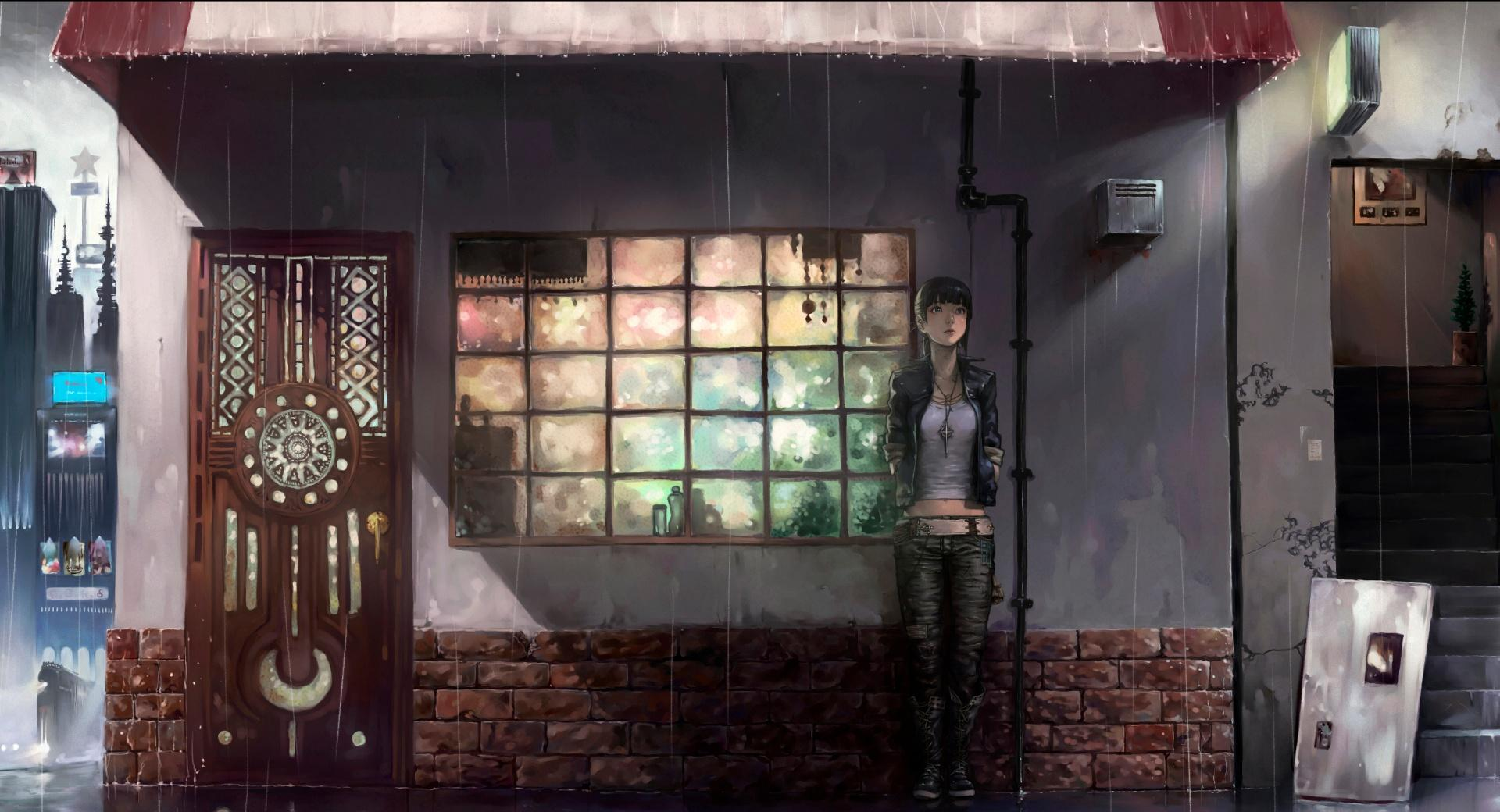 Raining Day Anime wallpapers HD quality