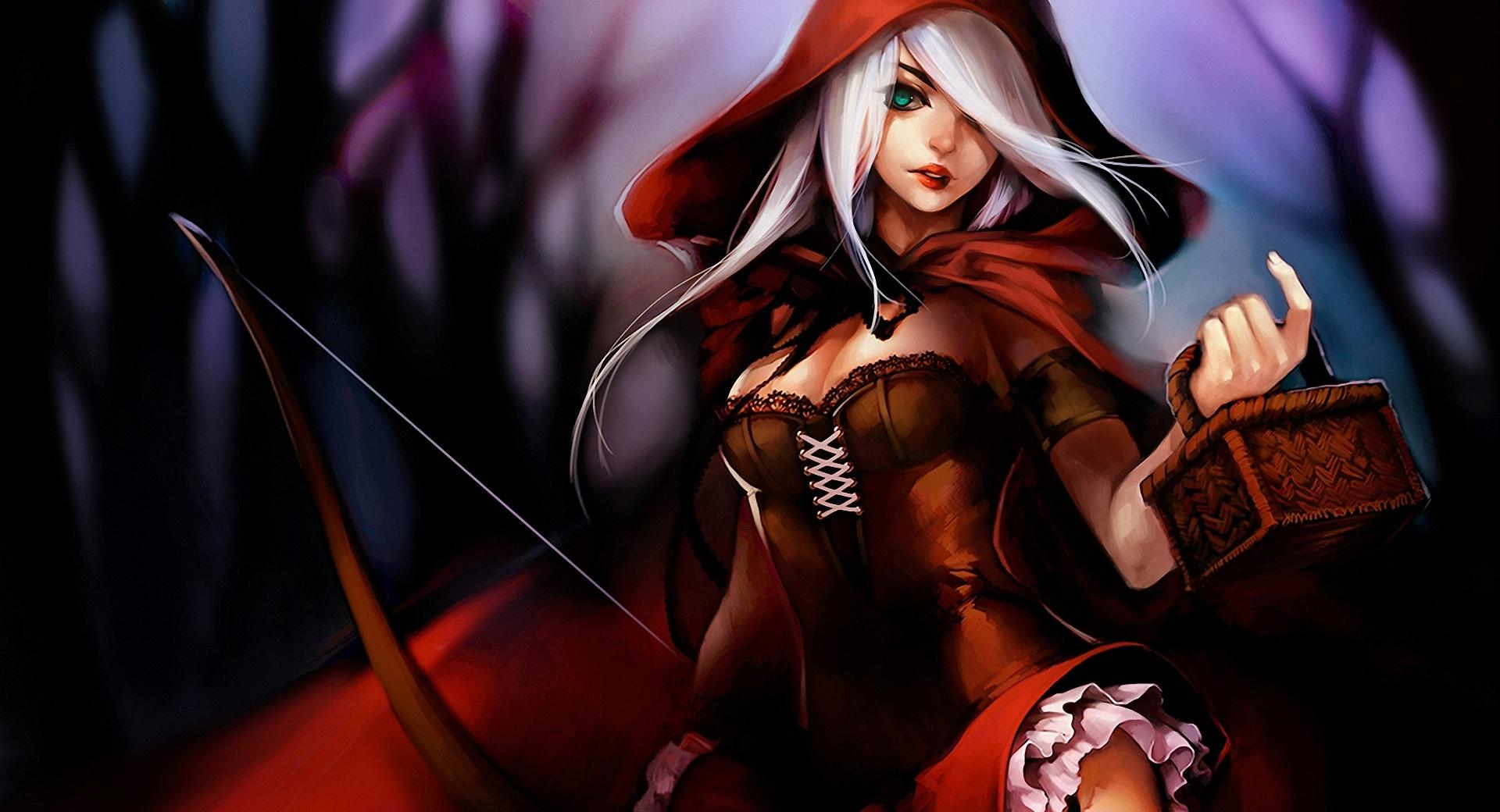Red Riding Hood Illustration wallpapers HD quality