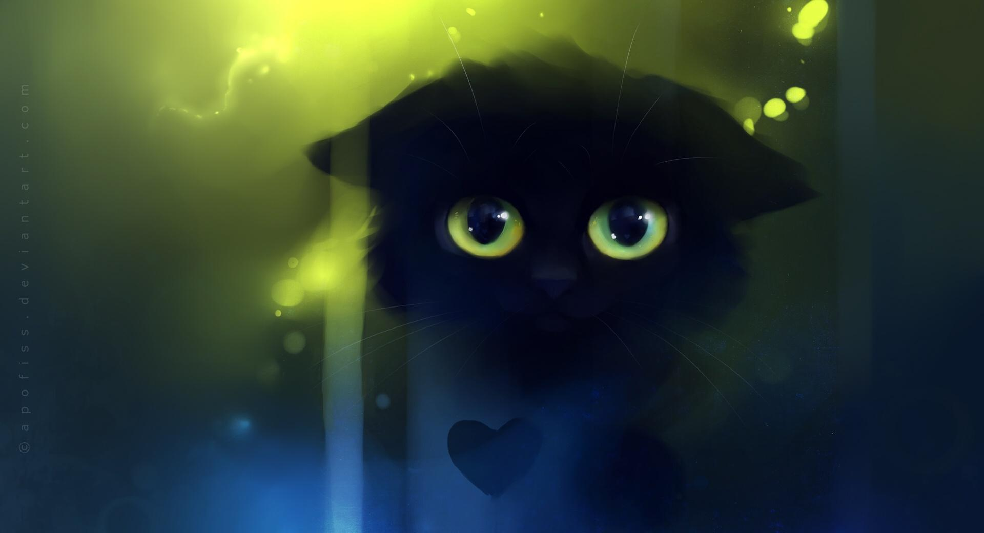 Sad Kitty Painting wallpapers HD quality