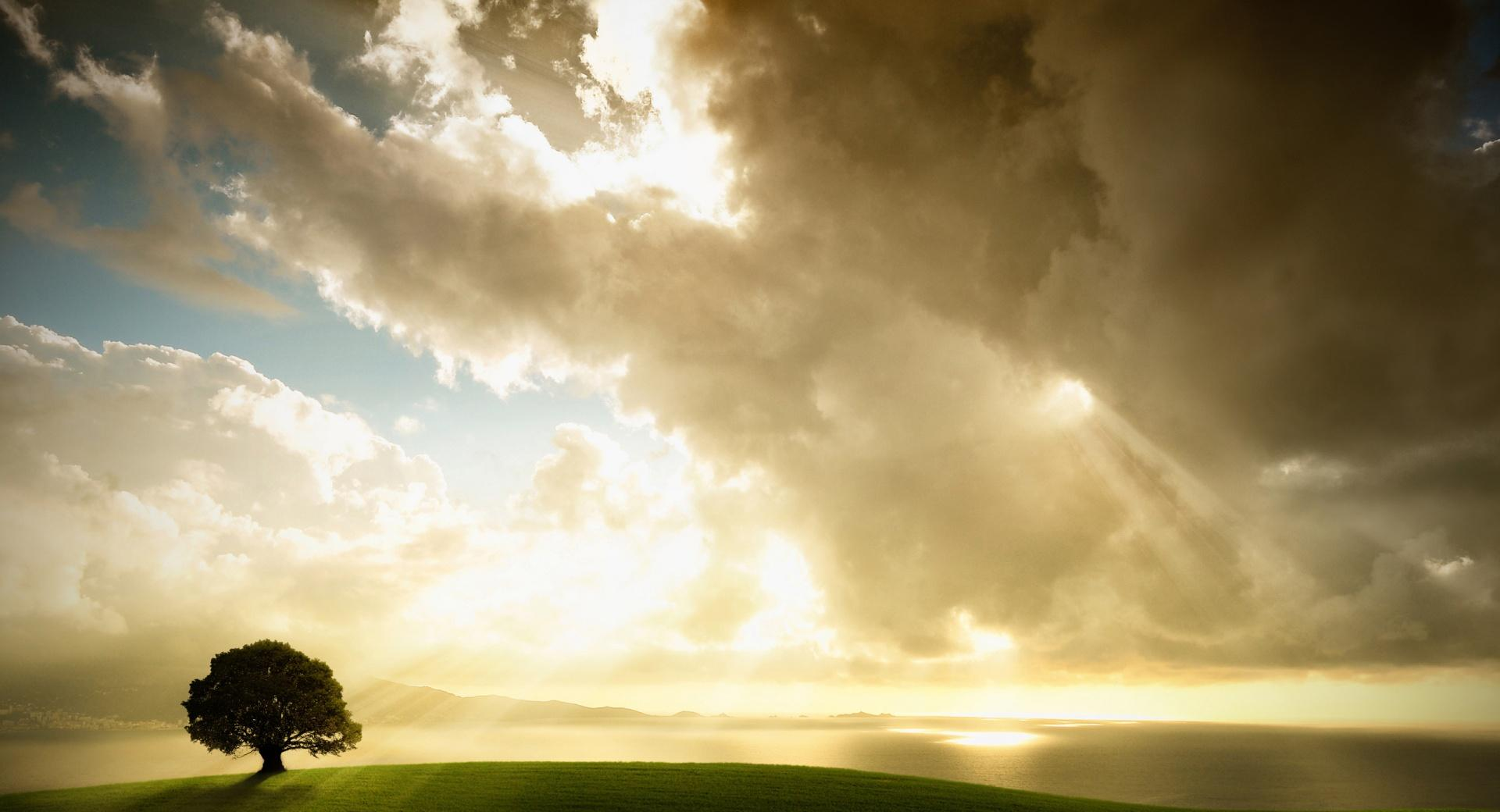 Sun Shining Through The Clouds wallpapers HD quality