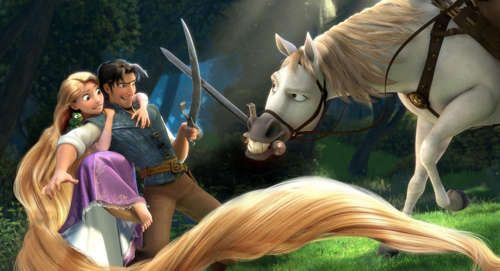 Tangled  Rapunzel, Flynn, Maximus wallpapers HD quality