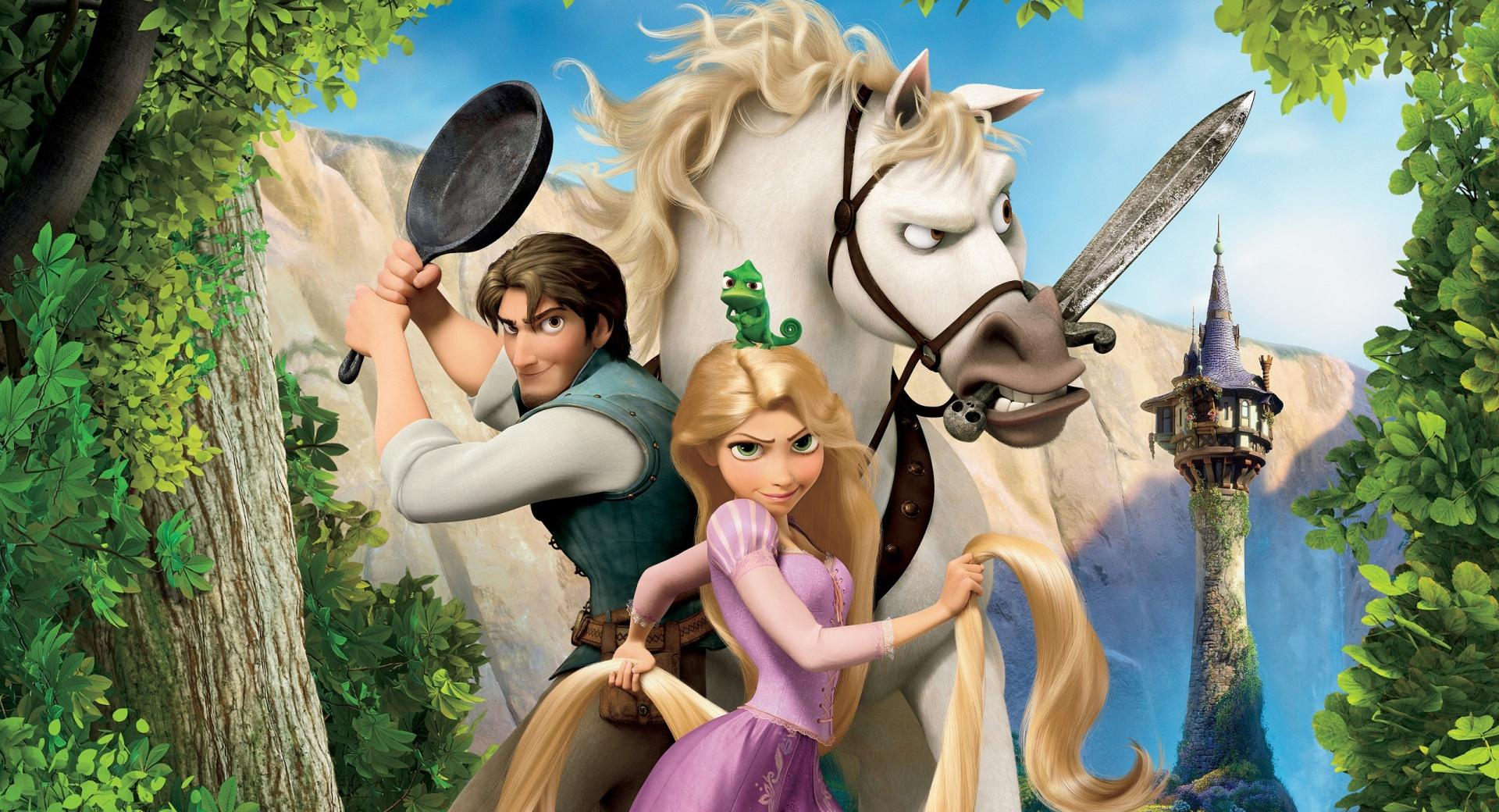 Tangled  Rapunzel, Flynn And Maximus wallpapers HD quality