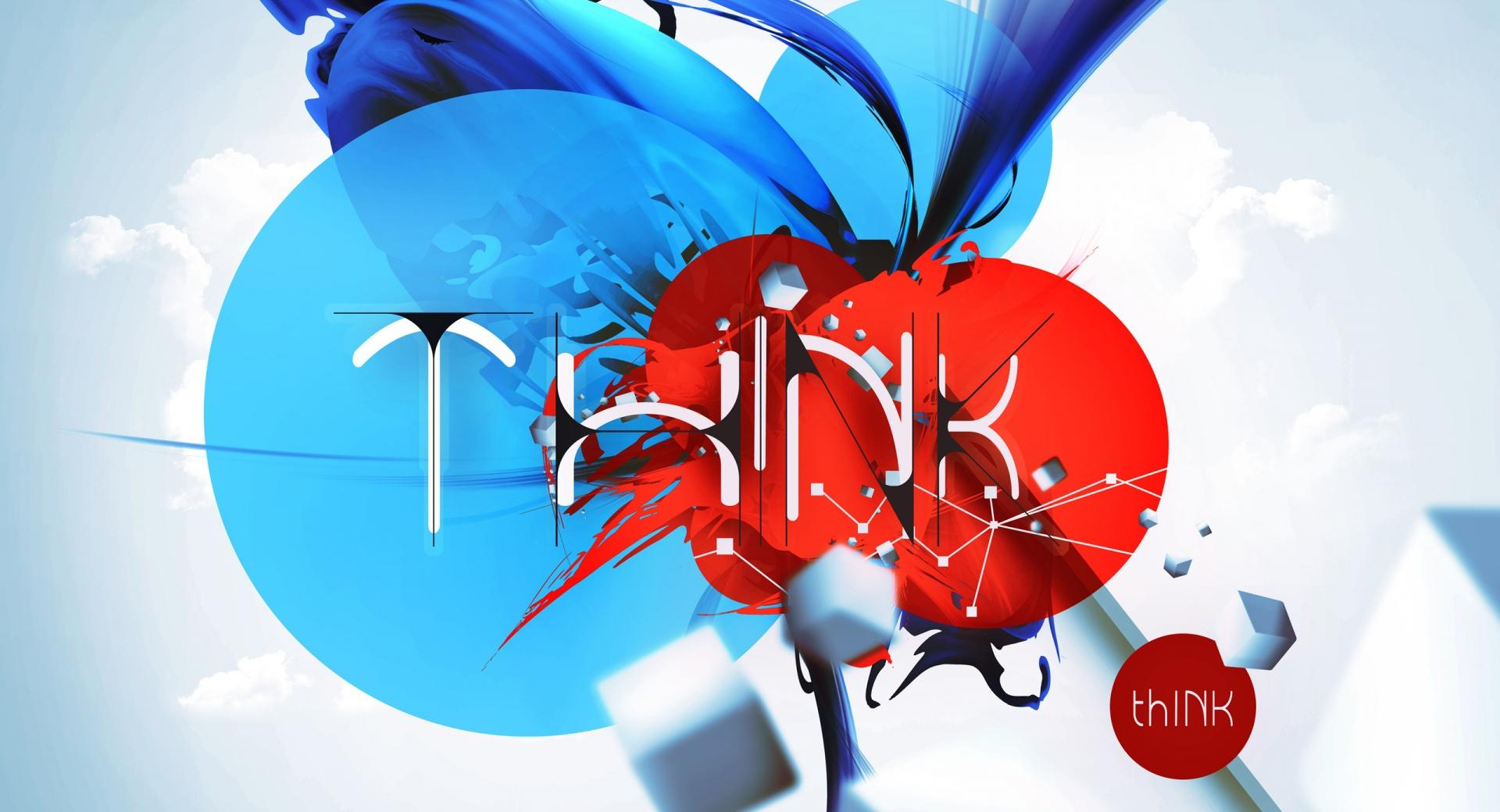 thINK (iPad retina optimized) wallpapers HD quality