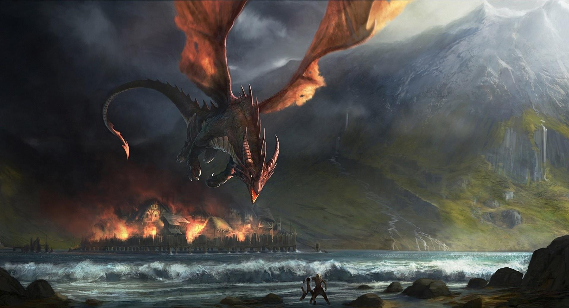 Wings Dragon Fire at 1152 x 864 size wallpapers HD quality