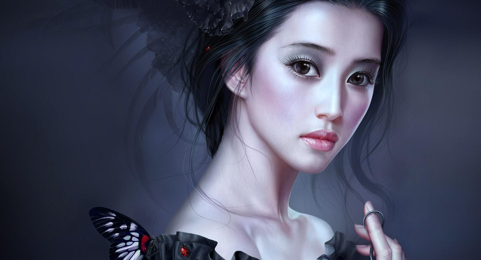 Woman In Black Painting wallpapers HD quality