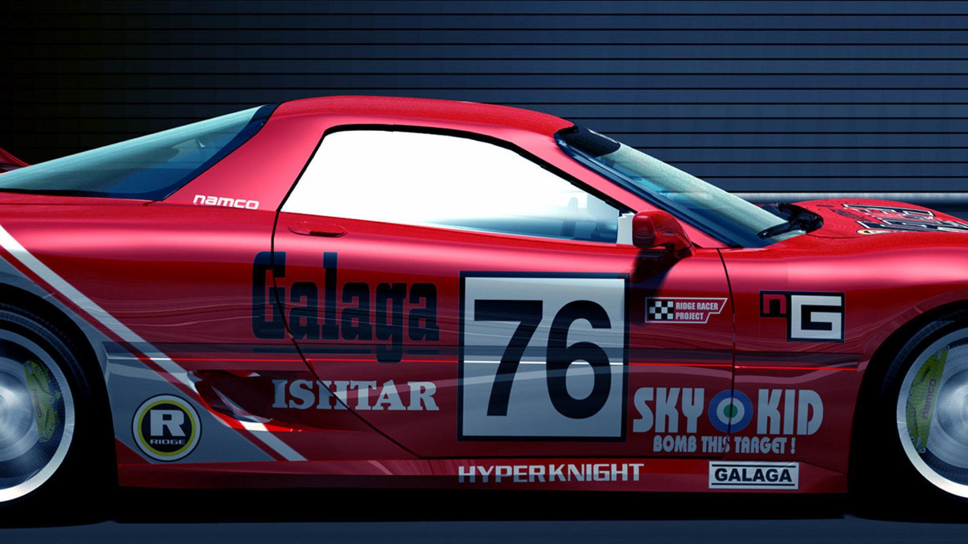 белый спортивный автомобиль Ridge Racer 7 игра без смс