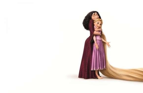 2010 Tangled Mother Gothel And Rapunzel wallpapers hd quality
