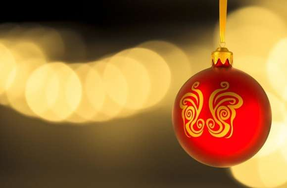 Christmas Red Ball wallpapers hd quality