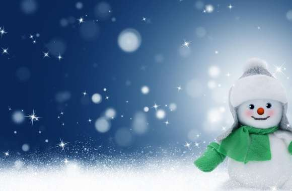 Cute Christmas Snowman wallpapers hd quality