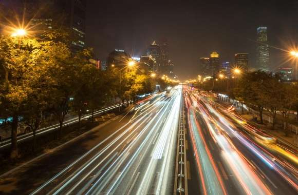Evening Traffic in Beijing wallpapers hd quality