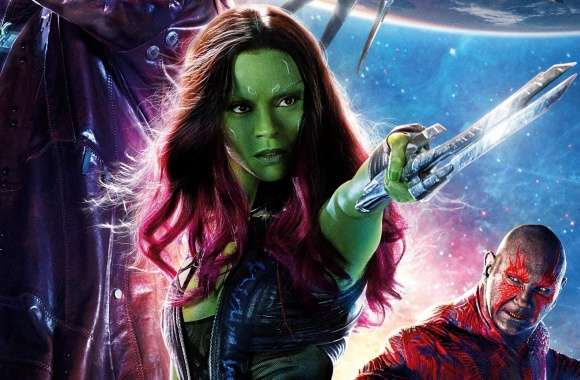 Guardians of the Galaxy Zoe Saldana as Gamora