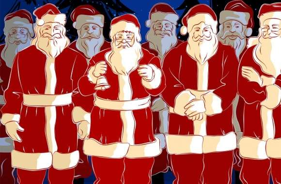 Lots Of Santa Christmas wallpapers hd quality