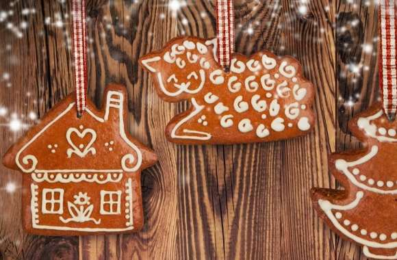 Merry Christmas Gingerbread wallpapers hd quality