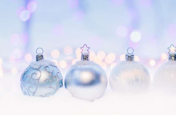 Silver Christmas Balls wallpapers hd quality
