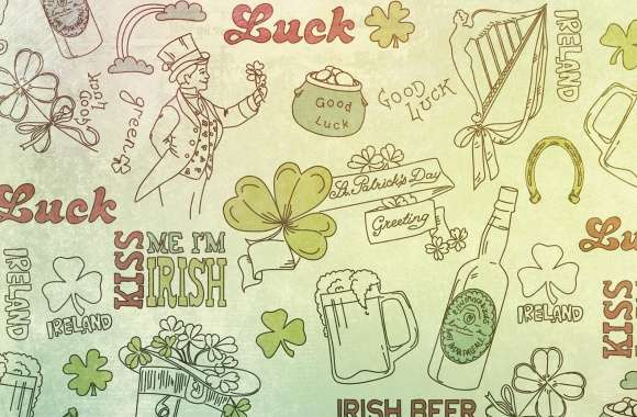 St. Patricks Day Good Luck Background