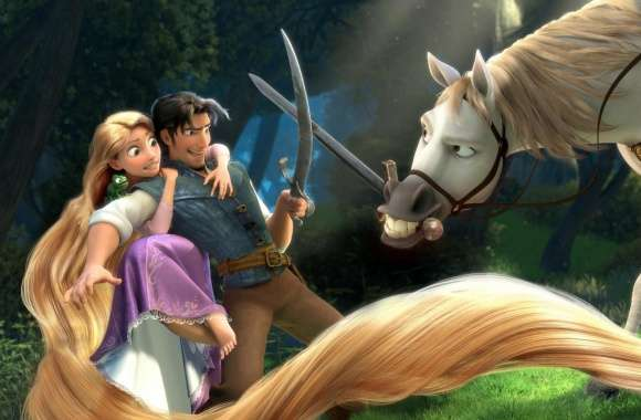 Tangled  Rapunzel, Flynn, Maximus wallpapers hd quality
